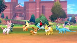 Campamento de pokémon en el nuevo videojuego de Nintendo Switch