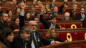 Diputats de JxCat i ERC al Parlament de Catalunya