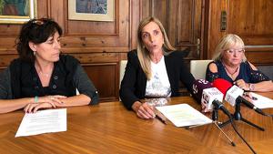 Dolors Farré ha presentat els plans d'ocupació, aquest matí, a l'Ajuntament de Valls