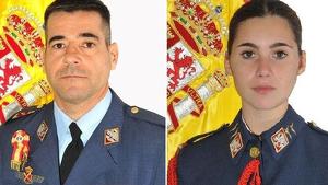 El comandante Daniel Melero y la alférez Rosa María Almirón estaban en un vuelo de instrucción