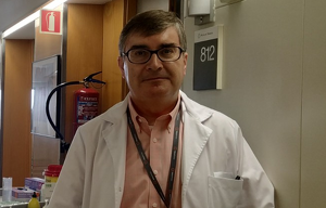 El Dr. Ramon Rami a les instal·lacions de MútuaTerrassa