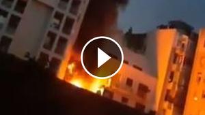 El foc ha cremat la part posterior d'una estació d'ITV