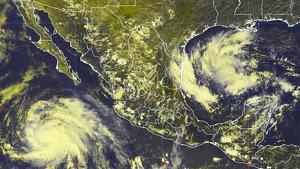 El huracán Juliette al oeste de México