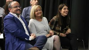 El president del PP català, Alejandro Fernández, i la presidenta de Noves Generacions Catalunya, Irene Pardo, seran a la Torre.