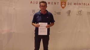 El regidor del PSC de Montblanc,Juan Manuel Cabello
