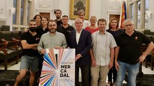 El saló de plens de l'Ajuntament de Reus ha acollit el sorteig d'ordre d'actuació de la diada del Mercadal