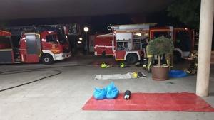 Els bombers ferits després de l'actuació en l'Hospital d'Alacant