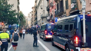 Els Mossos, a Gràcia