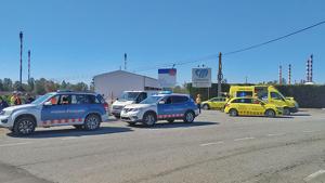 Els Mossos d'Esquadra i el SEM han realitzat un gran desplegament en l'accident químic a Tarragona