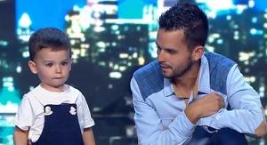 Hugo Molina va estar acompanyat en tot moment pel seu pare