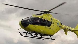 Imagen de archivo de un helicóptero medicalizado de la Junta de Castilla y León