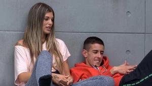 Imagen de Nuria y 'El Cejas' en 'GH VIP 7'