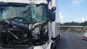 Imagen de uno de los camiones implicados en el accidente