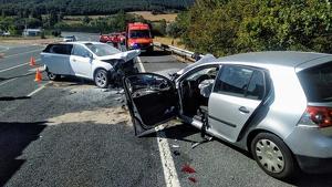 Imagen del accidente entre los dos vehículos