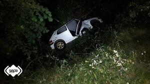 Imagen del vehículo del joven que sufrió el accidente