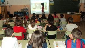 Imatge d'arxiu d'una classe a l'escola Pau Casals del Vendrell.