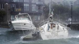 Imatge de la força del Dorian al seu pas per Nova Escòcia