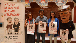 Imatge de la presentació de la Marató de Donació de Sang de Tarragona.