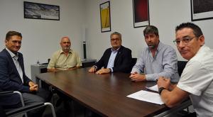 Imatge de la trobada entre els representants de la Cambra de Comerç de Reus i el Consell Comarcal del Priorat