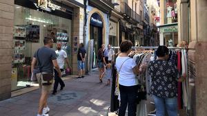 Imatge de les botigues al carrer