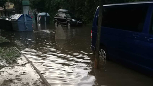 Imatge de les inundacions a Sabadell d'aquest dijous