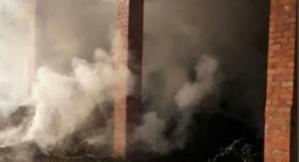 Imatge de l'incendi al Solsonès
