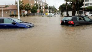 Imatge de Xàbia, on la gota freda va deixar més de 300 litres per metre quadrat en la jornada d'ahir