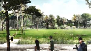 Imatge del futur parc de la plaça de les Glòries de Barcelona