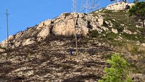 Imatge del lloc on ha ocorregut l'incendi aquesta matinada