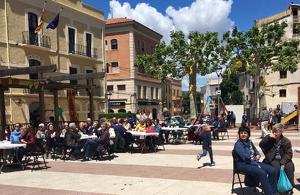 Imatge del vermut electoral de Som-hi Vilar-rodona, celebrat ahir diumenge