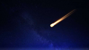 Imatge il·lustrativa de la caiguda d'un asteroide