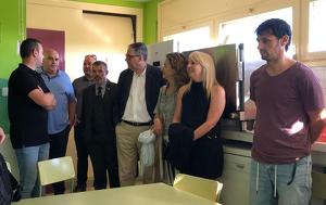 Jean Marc Segarra ha fet una visita a les instal·lacions de l'escola Sant Jaume de Bràfim