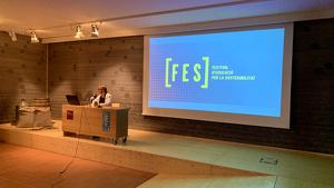 La directora del Museu de la Vida Rural, Gemma Carbó, presenta el FES.