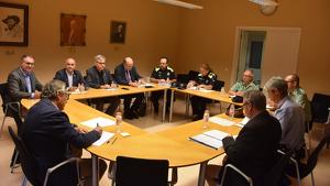 La Junta Local de Seguretat, reunida en sessió extraordinària aquest divendres, 13 de setembre.