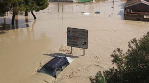 La pedania d'Escorralet, en Orihuela, després de les pluges torrencials