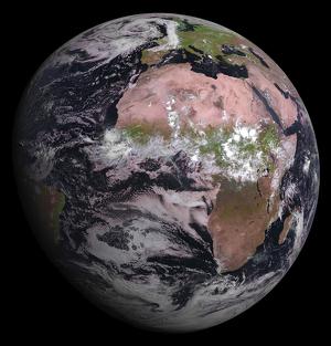 La primera imatge obtinguda pel satèl·lit europeu MSG-4