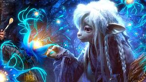 La serie aunara la artesanía de las marionetas con los efectos visuales actuales