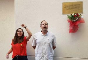 Laura Armengol, de Jovent Republicà, i Carles Caballero, president d'ERC