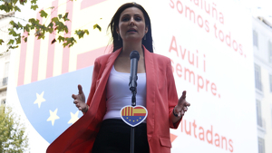 Lorena Roldán durant la Diada a Barcelona