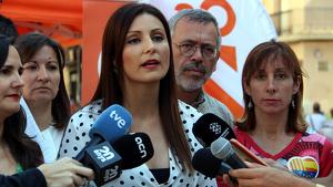 Lorena Roldán, líder de Ciutadans a Catalunya, ha visitat Reus aquest dissabte.