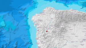 Mapa de la localización del terremoto