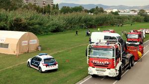 Mossos i Bombers de la Generalitat participen en el dispositiu