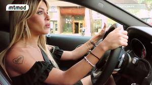 Oriana Marzoli sufrió un pequeño accidente el día que estrenó su coche