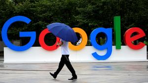 Pla general de les lletres de Google durant la World Artificial Intelligence Conference a Shanghai