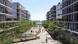 Projecte de 'Marina Living', 216 habitatges a tocar del mar a Badalona