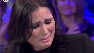 Rosa López no pudo evitar las lágrimas