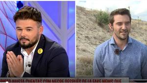 Rufián i Negre cara a cara a 'Todo es Mentira'