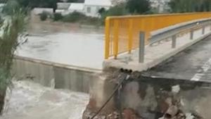 Trencament de la mota del Segura en Almoradí