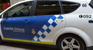 Un cotxe de la Urbana de Lleida