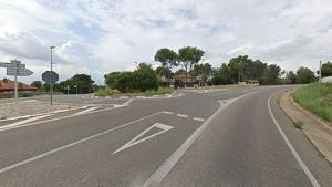 Un cotxe i una motocicleta han topat a la carretera TP-2031